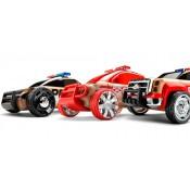 Набор автомобилей-конструкторов Mini 3 pack Полиция, Пожарная и Скорая помощь