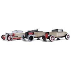 Набор ретро автомобилей-конструкторов Mini 3 pack Хот Род